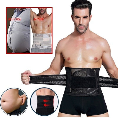 Men's Waist Trainer Lower Lumbar Back Support Belt