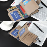 Mens Short Style Slim PU Leather Bifold Wallet Card Holder