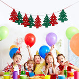 5pcs Merry Christmas Banner Bunting Garland Hanging Flag