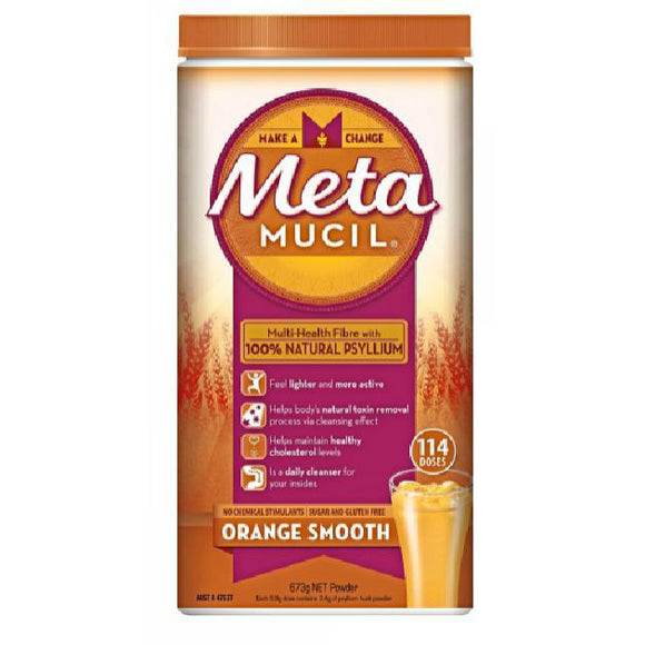 Metamucil Multi-Health Fibre Orange Smooth 114 Doses