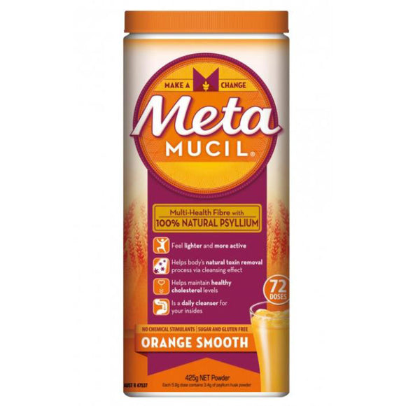 Metamucil Multi-Health Fibre Orange Smooth 72 Doses