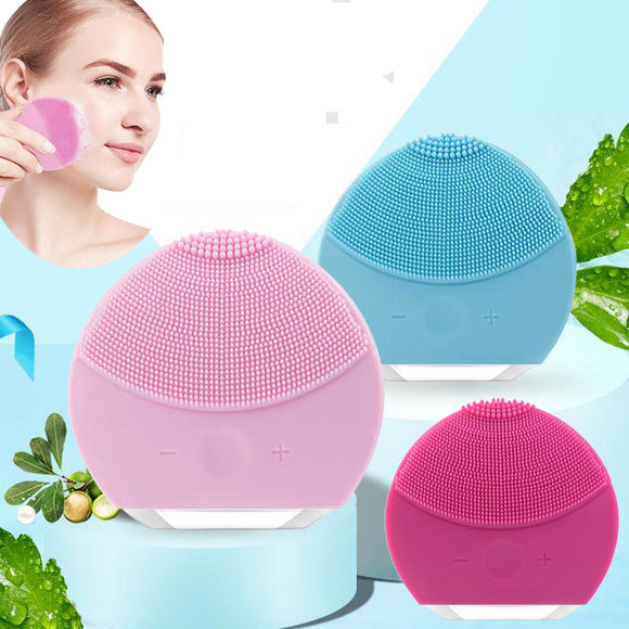 Mini Silicone Facial Sonic Cleansing Brush Massager Gentle Exfoliation