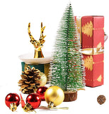 4pcs Mini Desktop Christmas Tree Pine Needle Tree Decoration Crafts