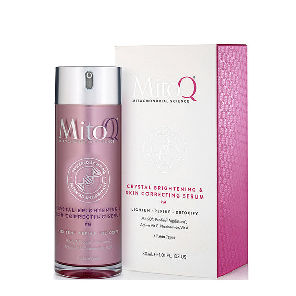 MitoQ Crystal Brightening & Skin Correcting Night Serum 30ml