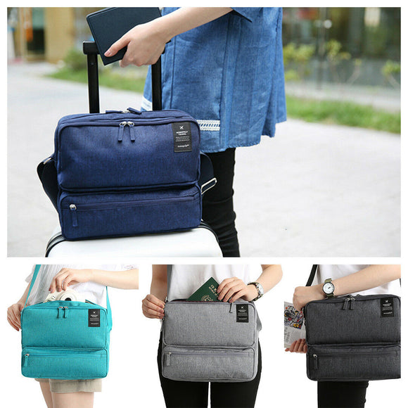 Multi-Compartment Travel Luggage Bag Shoulder Bag