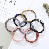 40pcs Multicolor 4 in 1 Hair Bands 5CM Strong Elastic Ponytail Holder
