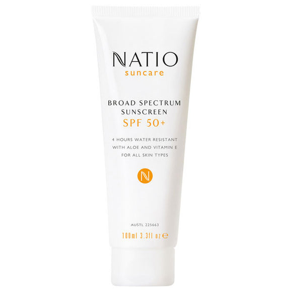 Natio Broad Spectrum Sunscreen SPF 50+ with Aloe & Vitamin E - 100ml