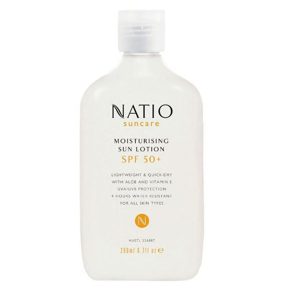 Natio Moisturising Sun Lotion SPF50+ 200mL