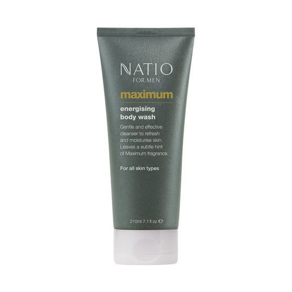 Natio Maximum Energising Body Wash for Men 210ml