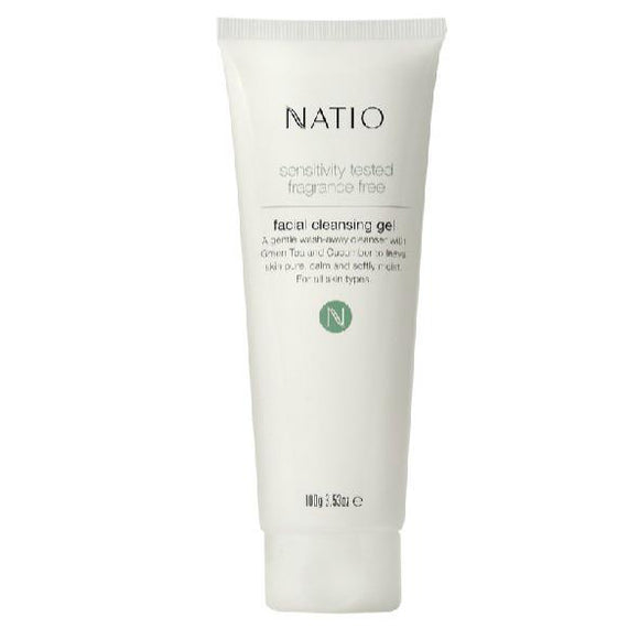 Natio Sensitive Tested Fragrance Free Facial Cleasing Gel 100g