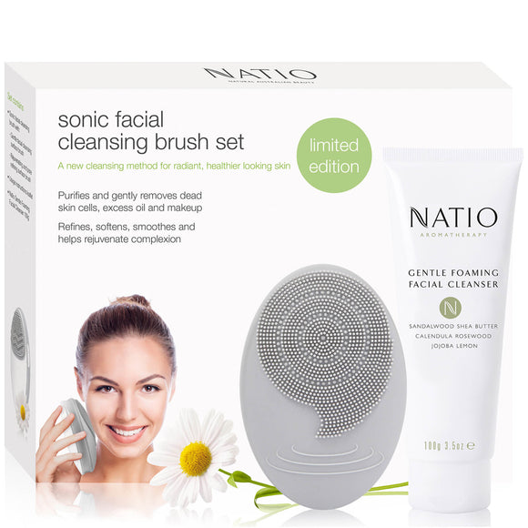 Natio Sonic Facial Cleansing Brush Set