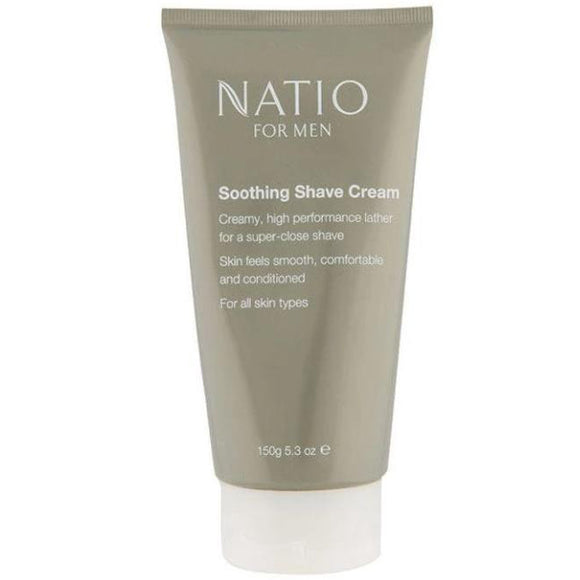 Natio Soothing Shave Cream for Men 150g