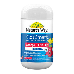 Nature's Way Kids Smart Omega-3 Fish Oil High DHA 50 Capsules