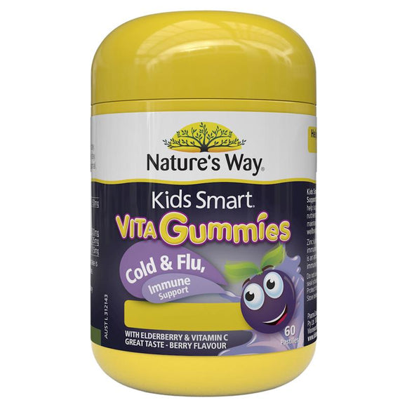 Nature's Way Kids Smart Vita Gummies Cold & Flu Immunity 60 Pastilles