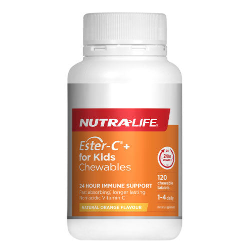 Nutra-Life Ester C for Kids 100mg Chewable 120 Tablets