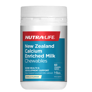 Nutra-Life New Zealand Calcium Enriched Milk Chews - 60 Tablets