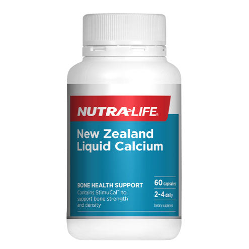 Nutra-Life New Zealand Liquid Calcium - 60 Capsules