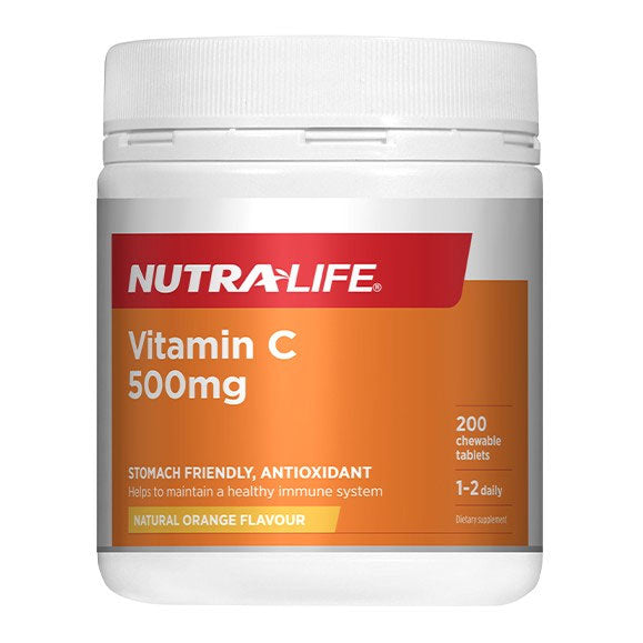 Nutra-Life Vitamin C 500mg - 200 Tablets