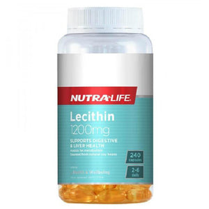 Nutra-Life Lecithin 1200mg - 240 Capsules