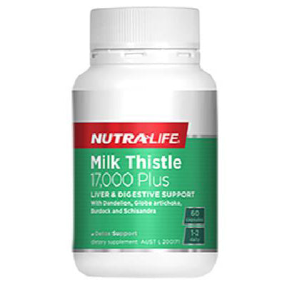 Nutra-Life Milk Thistle 17000 Plus - 60 Capsules