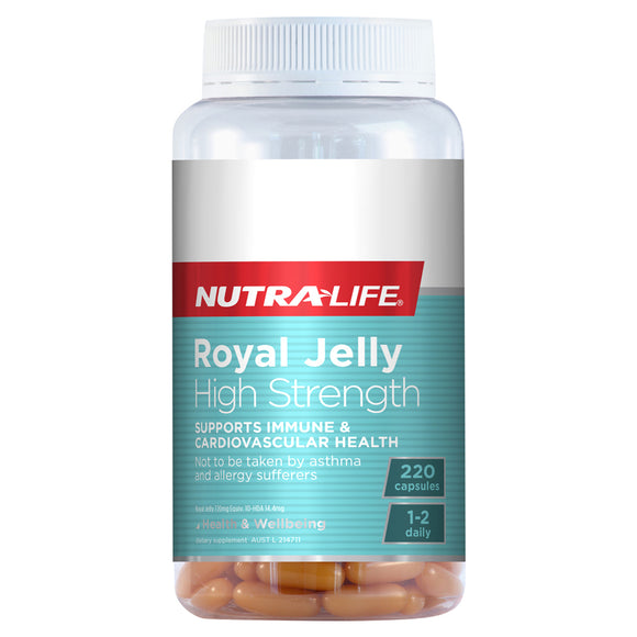 Nutra-Life Royal Jelly High Strength - 220 Capsules