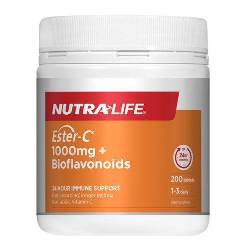 Nutra-life Ester-C 1000mg + Bioflavonoids 200 Tablets