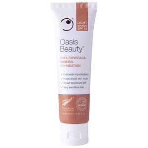 Oasis Beauty Natural BB Cream 50mL Anti-aging Mineral Foundation SPF15