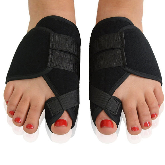 Orthopedic Bunion Corrector Thumb Valgus Splint Cushion Black