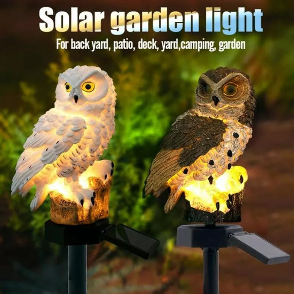Owl Solar Powered LED Garden Night Lights Ornament Lamp