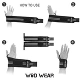 2pcs 18-inch Wrist Wraps Support Band with Thumb Loops