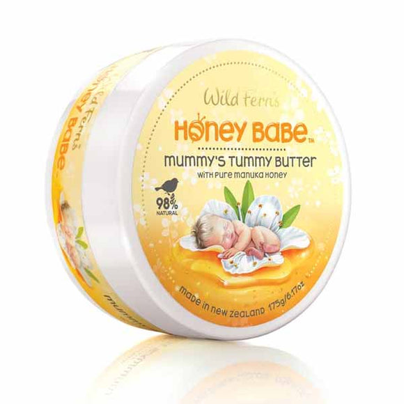 Parrs Wild Ferns Honey Babe Mummy's Tummy Butter - Pure Manuka Honey 175g
