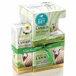 Parrs Wild Ferns Lanolin AM/PM Set (3-in-1)