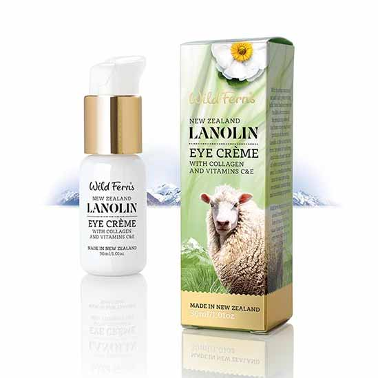 Parrs Wild Ferns Lanolin Eye Creme with Collagen and Vitamin C & E 30ml