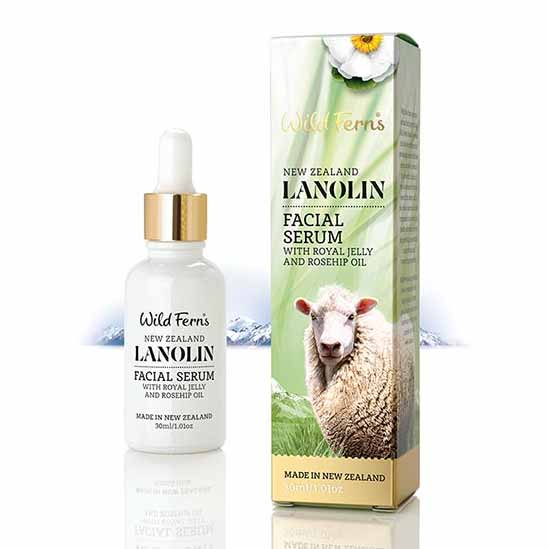 Parrs Wild Ferns Lanolin Facial Serum with Royal Jelly and Rosehip Oil 30ml