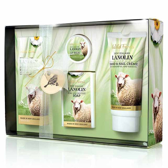 Parrs Wild Ferns Lanolin Gift Box (4-in-1)