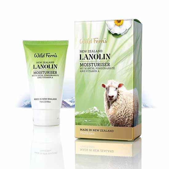 Parrs Wild Ferns Lanolin Moisturiser SPF30 with Pomegranate and Vitamin A 75ml