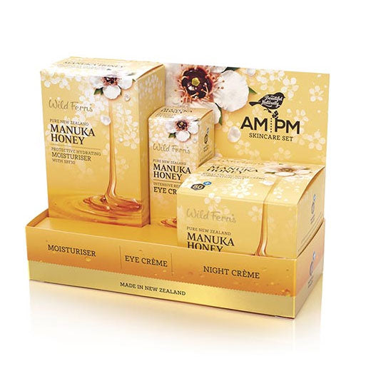 Parrs Wild Ferns Manuka Honey AM/PM Set