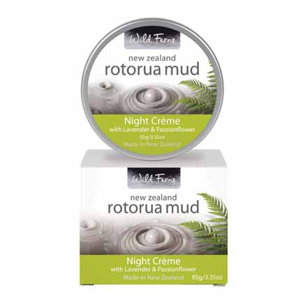 Parrs Wild Ferns Rotorua Mud Night Creme with Lavender & Passionflower 95g