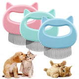 2pcs Cat Dog Pet Hair Removal Grooming Massage Shell Comb