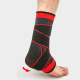 1 Pair Protective Compression Sports Ankle Brace Strap Sleeves