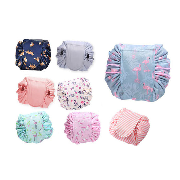 Portable Quick Drawstring Makeup Bag Travel Organizer