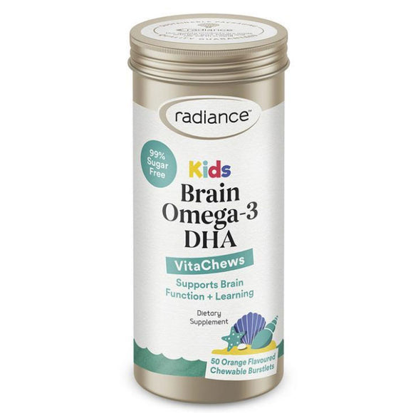 Radiance Kids Brain Omega-3 DHA 50 Chewable Tablets