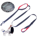 180cm Long Reflective Heavy Duty Nylon Leash with 2 Padded Handle