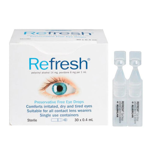 Refresh Eye Drops Preservative Free Single Dose 30 x 0.4ml