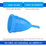 2 Packs Resuable Hygiene Menstrual Cups Medical Grade Silicone FDA Approved