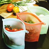 Reusable Silicone Food Storage Airtight Bags