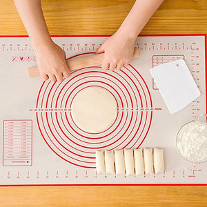 Silicone Non-Stick Baking Pastry Mat with Measurements