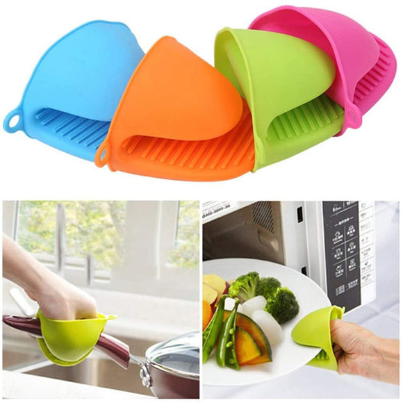 2Pcs Silicone Pot Holder Cooking Finger Protector Pinch Grips Heat Resistant