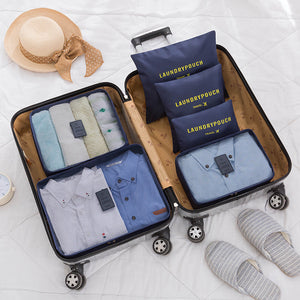 6-Piece Waterproof Travel Luggage Organiser Bag Set Packing Cubes