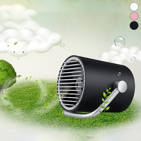 Quiet USB Small Fan with Touch Control Two Turbo Blades